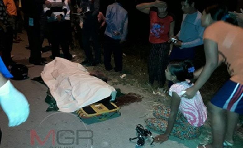 แยกอันตรายตายเดือนละศพ หนุ่มพม่าสังเวยชีวิต ข้ามถนนถูกชนดับ