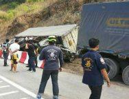 เกิดอุบัติเหตุ รถบรรทุกพลิกคว่ำเส้นทาง ตาก-แม่สอด