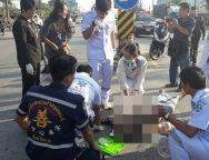 เกิดอุบัติเหตุ กระบะชนจักรยานยนต์ อดีตตำรวจแม่สอด สุดยื้อ สิ้นลม