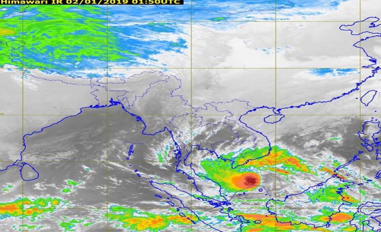 """กรมอุตุฯ เตือนภาคใต้ เตรียมรับมือพายุโซนร้อน """"ปาบึก"""" 3-5 ม.ค.นี้ กทม.อากาศเย็น"""