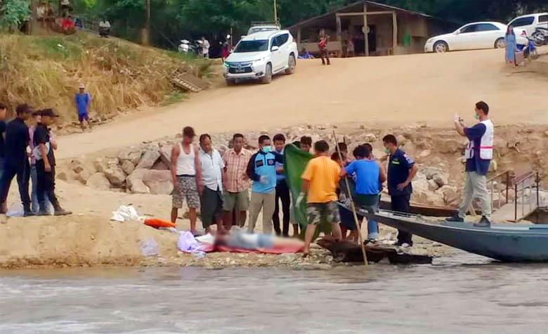 วัยรุ่นสาวจีนเครียดจัดสามีมีกิ๊ก คิดสั้น เดินลงแม่น้ำเมยฆ่าตัวตายประชดรัก