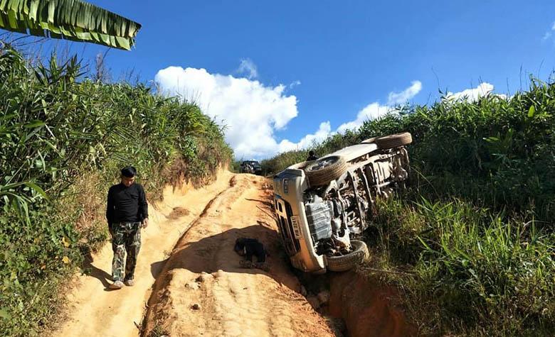 นทท. เกิดอุบัติเหตุเสียชีวิตระหว่างมาเที่ยวเส้นทางดอยสอยมาลัยหลังคาเมืองตาก