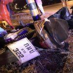 อุบัติเหตุรถจักรยานยนต์ชนเสาไฟฟ้า บริเวณหน้าร้านอลงกรณ์คอนกรีต