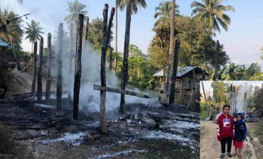 ร่วมบริจาคช่วยเหลือ นร.โรงเรียนบ้านแม่ละมุ้งวิทยา เหตุไฟไหม้บ้าน